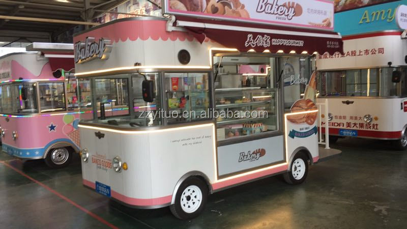 Hot dog cart mobile food trucks/shopping mall kiosk for fast food