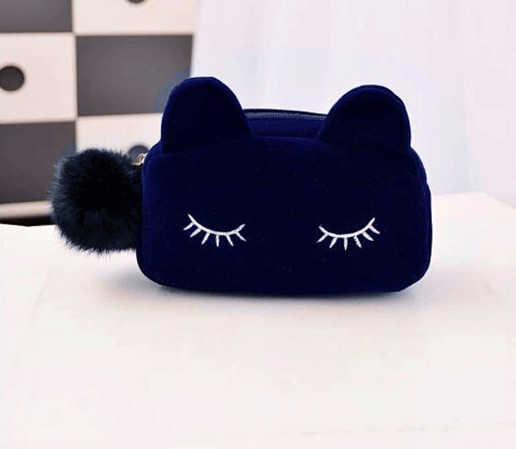 China factory online shopping cat 여행 화장실 bag, cat 화장품 pouch