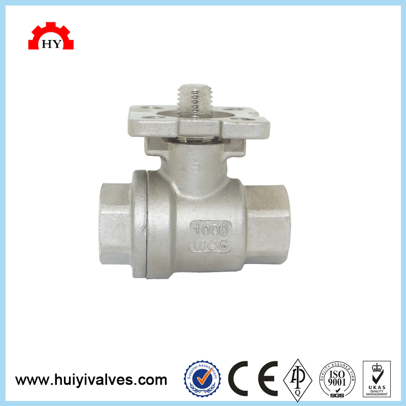 New design stainless steel 304 1000wog full bore 3 pc motorized wcb 3 pcs body ball valve