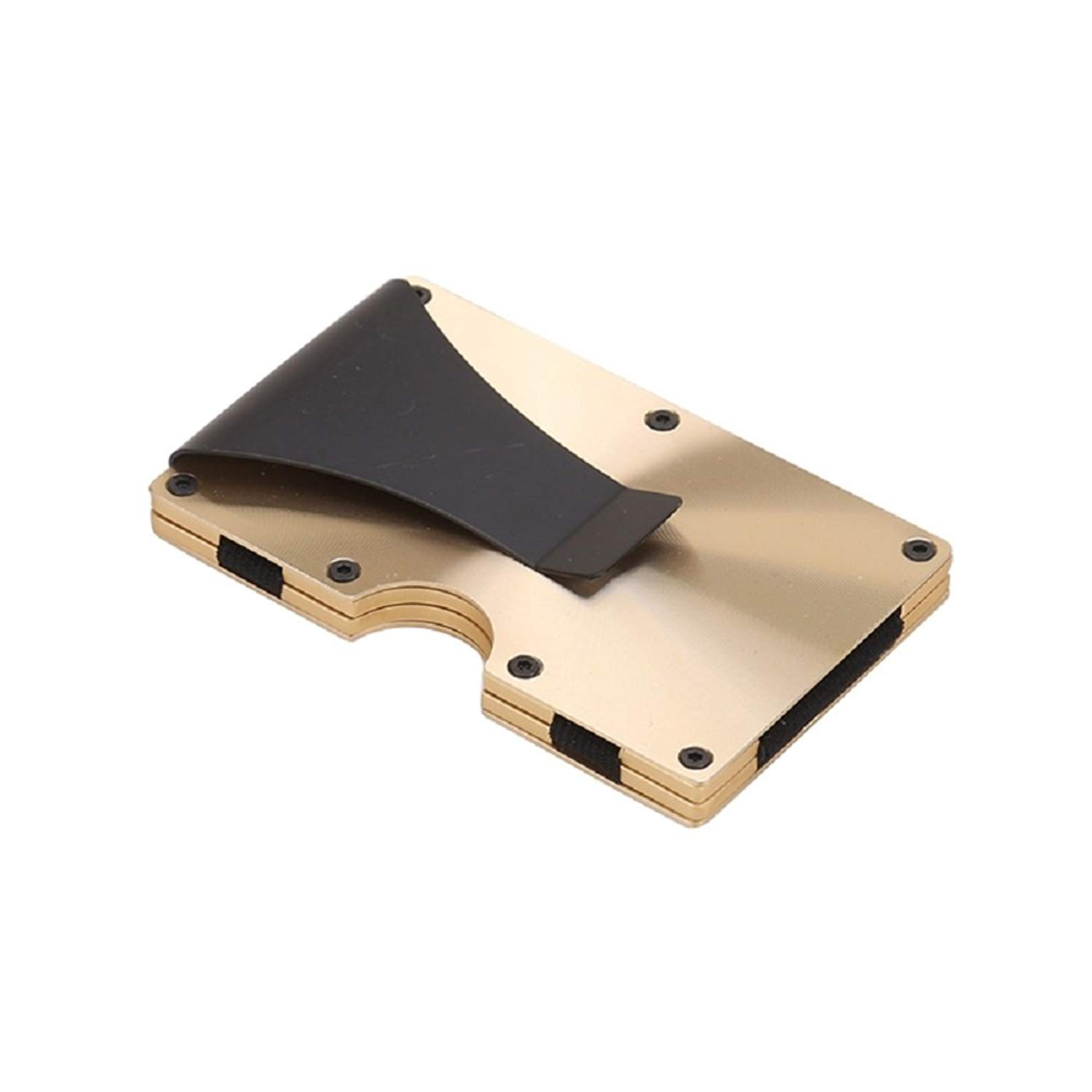 get quotations mens money clip card holder rfid credit card case cool anti scan cash clip - Money Clip Credit Card Holder