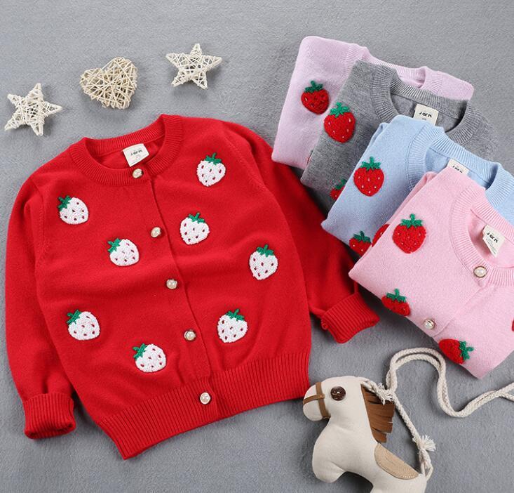 Zm10982a Mode Neue Erdbeere Stickerei Baby Strickjacke Strickmuster ...