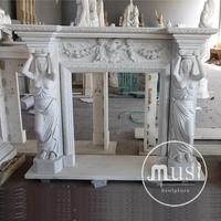 home decor modern european hand carved prefabricated fireplace mantels