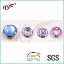 222# pronged snap button with pearl with male, female, and ring.