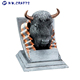 Hot sale resin animal head trophy custom oxhead souvenirs