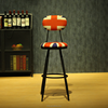 Industrial starbucks commercial furniture wrought iron bar stools bar chairs
