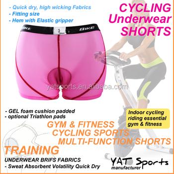 OEM Logo Custom fabrics women s breathable gel padded boxer briefs inner  cycling shorts underwear 0e382eb68