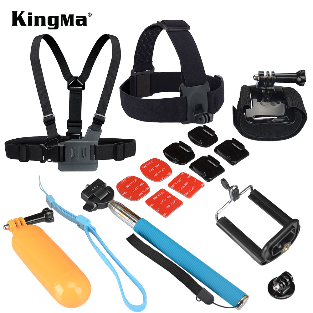 Gopro Accessories Chest Belt+Remote Wrist Belt+Head Strap+Helmet