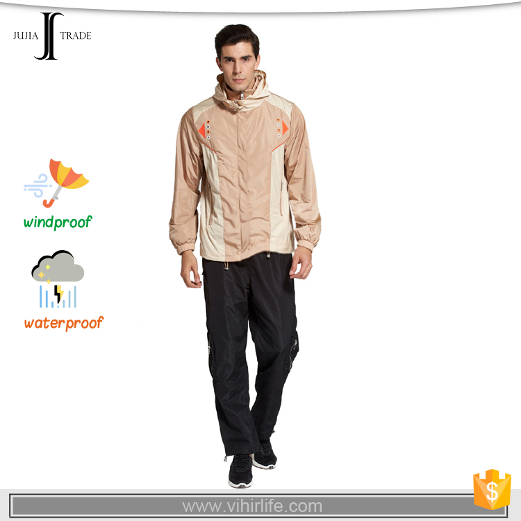 JUJIA-1031 waterproof polyester windbreaker jacket