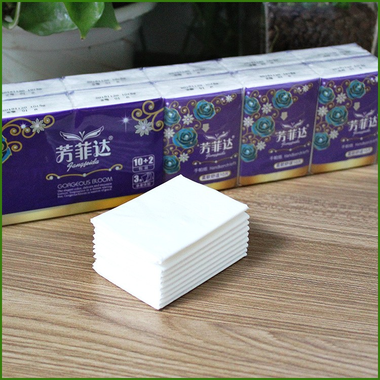 Virgin wood pulp mini customized biodegradable pocket tissues