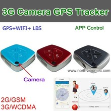 portable 3G mini GPS tracker with camera And SOS alarm & push-button calling functions