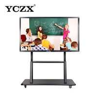 "65"" Educational equipment multi writing electronic portable smart interactive white board, touch screen interactive whiteboard"