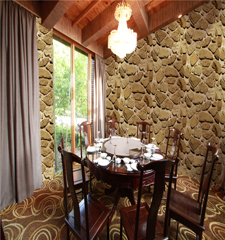 Best Quality Heat Insulation 3d Stone Wallpaper For Living Room