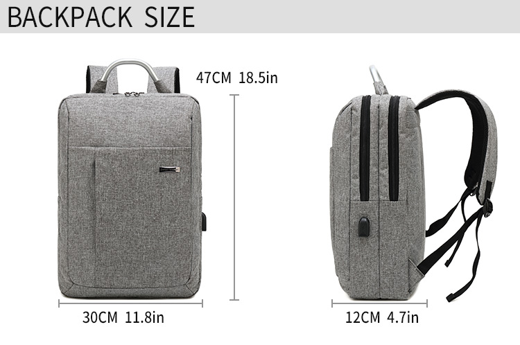 Travel laptop bag school backpack, men's, waterproof encryption nylon college student bag suitable for 15.6 inches