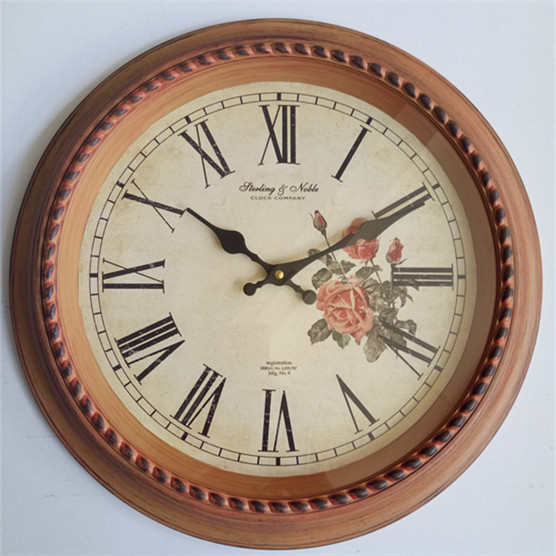 Promotion decorative big size cheap plastic wall clock decor