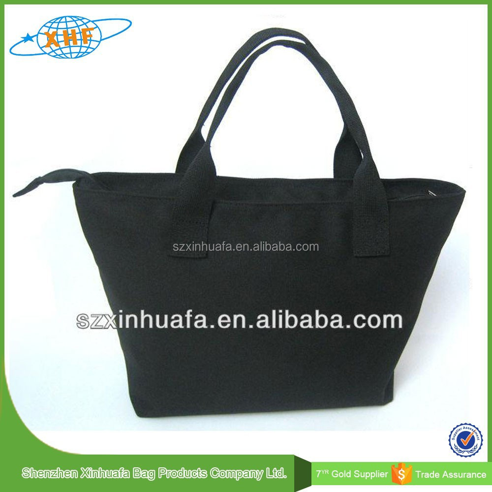 Custom Logo Printed Canvas Tote Bag Black