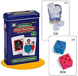 Webber Photo Phonology Initial Consonant Deletion Minimal Pair Card Deck - Super Duper Educational Learning Toy for Kids