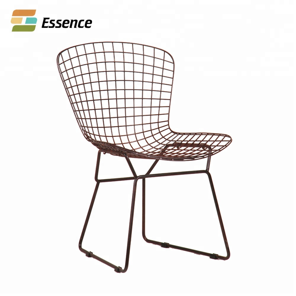 Tianjin cafe furniture rose gold finish metal wire dining chairs buy metal wire chairscafe chairsmetal chairs product on alibaba com