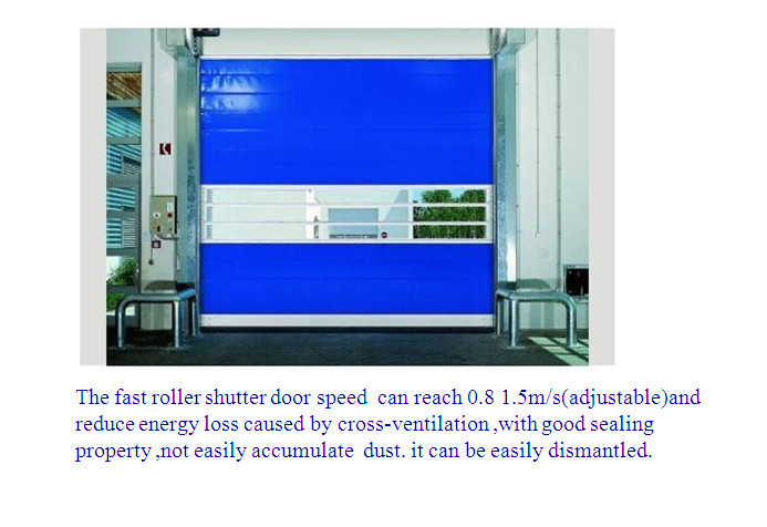 Big warehouse used flexible pvc high speed roller shutter doors