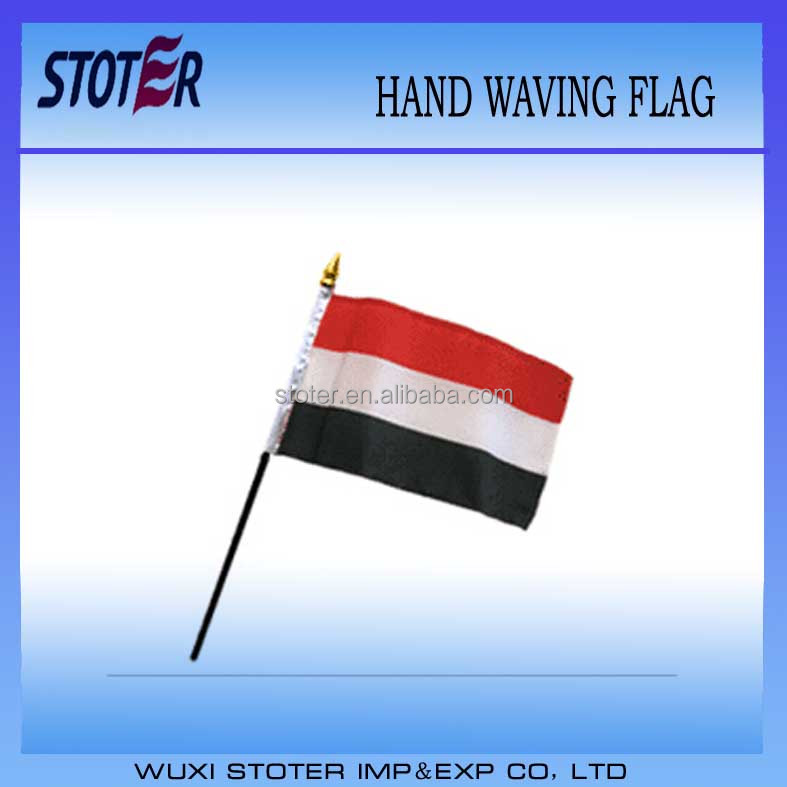 Yemen 30*45cm hand waving flag,outdoor banner