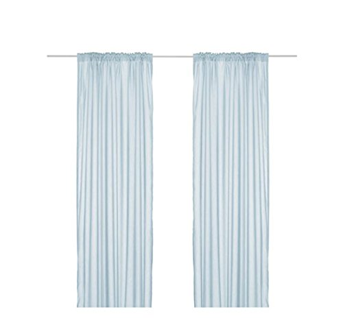 "HTF Retired Ikea Torhild Sheer Curtains-1 Pair-57/""x98/""-Light Brown Mint Conditi"