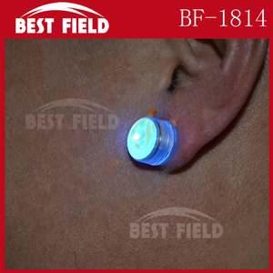 magnetic Red Blue Flashing led Earring