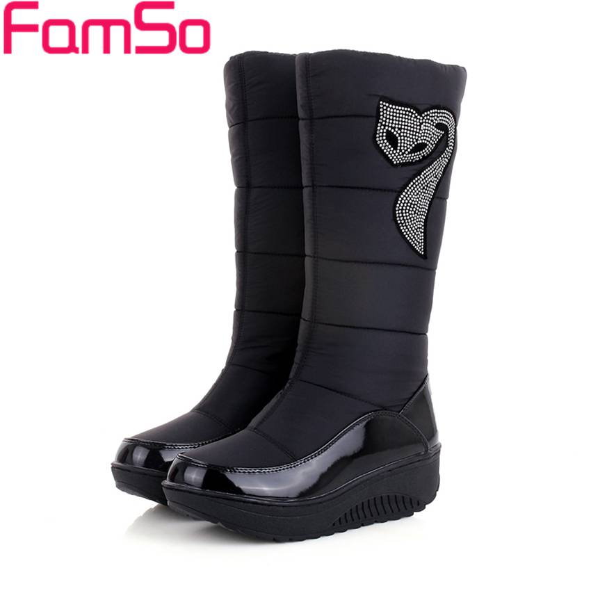 2016 new winter Russia keep warm snow boots Waterproof