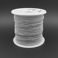 JZZZ-004 Wholesale Cheap Factory Price Real Pure 925 Sterling Silver Chain in Roll