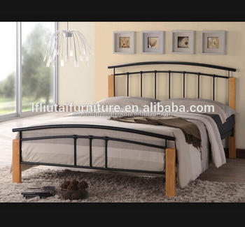 wood and iron bedroom furniture. Wood Leg Iron Steel Frame Bed For Bedroom Furniture And