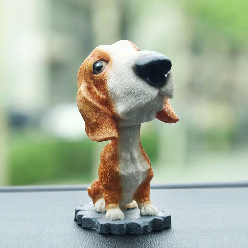 Solar Powered Dancing Toys Swinging Puppy Dog Bobble Dancer Toy Car Decor Gessppo