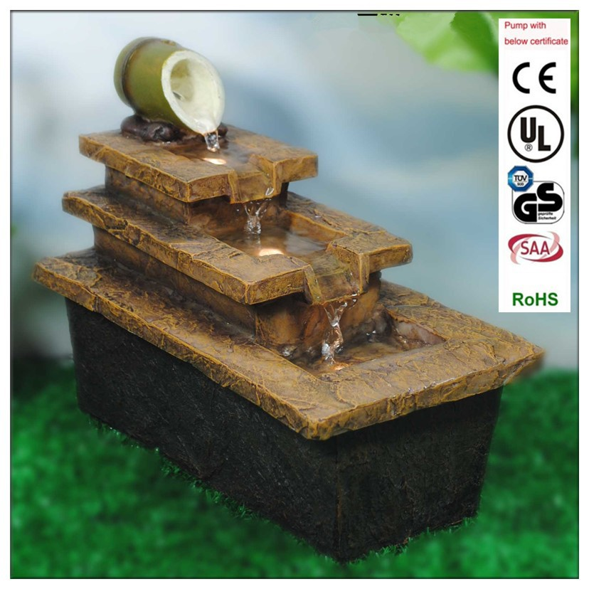 Polyresin Rock Art Indoor Fountain Portable Waterfall