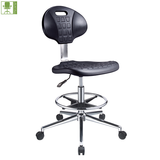 modern PU lab workshop stool esd chair with footring / stool industrial