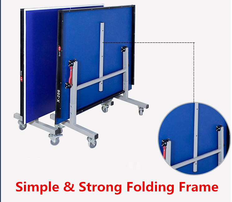 Folding Ping Pong Table with Movable Foldable Lift Function