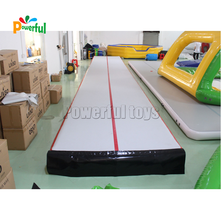Red 15m inflatable prix air track for gym airtrack