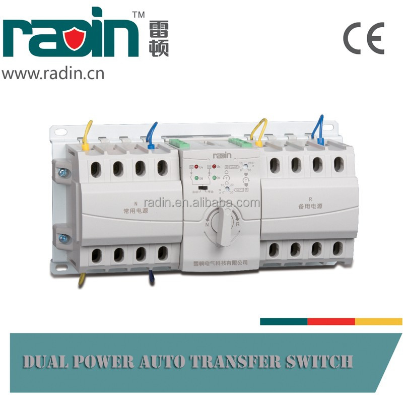 3P RDQ3NX-B 63A Dual Power Automatic Changover Switch