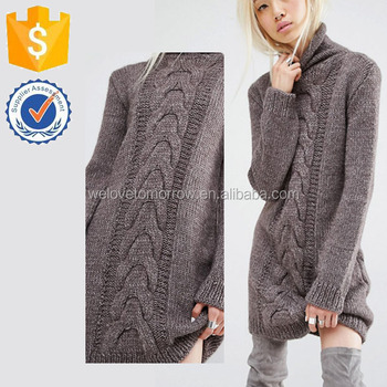 42d7b40105 Damson Oneon Hand Knitted Jumper Dresses With Cable Detail Winter Sweater  Manufacture Wholesale Fashion Women Apparel