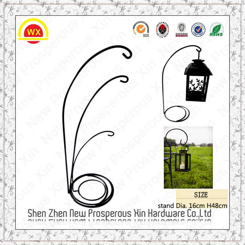 Wholesale Hardware Lanterns Holder Garden Decoration Shepherd Hook