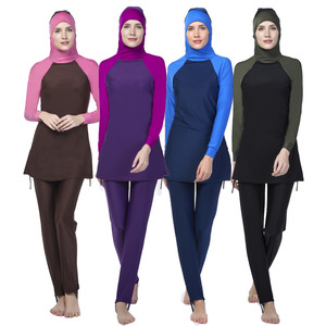 Sexy Islamic Long Sleeve Swimsuit Muslim Bathing Suit Color Changing Swimwear