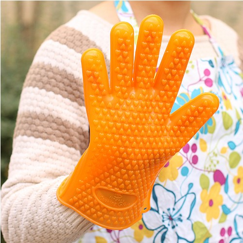 Heat resistant silicone kevlar gloves, anti slip silicone kevlar gloves & oven mitts, dishwashing safe silicone kevlar gloves