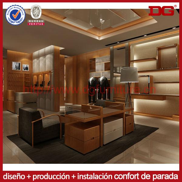 Venta al por menor de madera ropa prenda tienda de ropa for Diseno de interiores almacenes de ropa