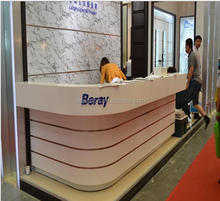 Commercial Good Looking semi-circle reception desk / vintage reception desk / wholesale reception, office reception counter