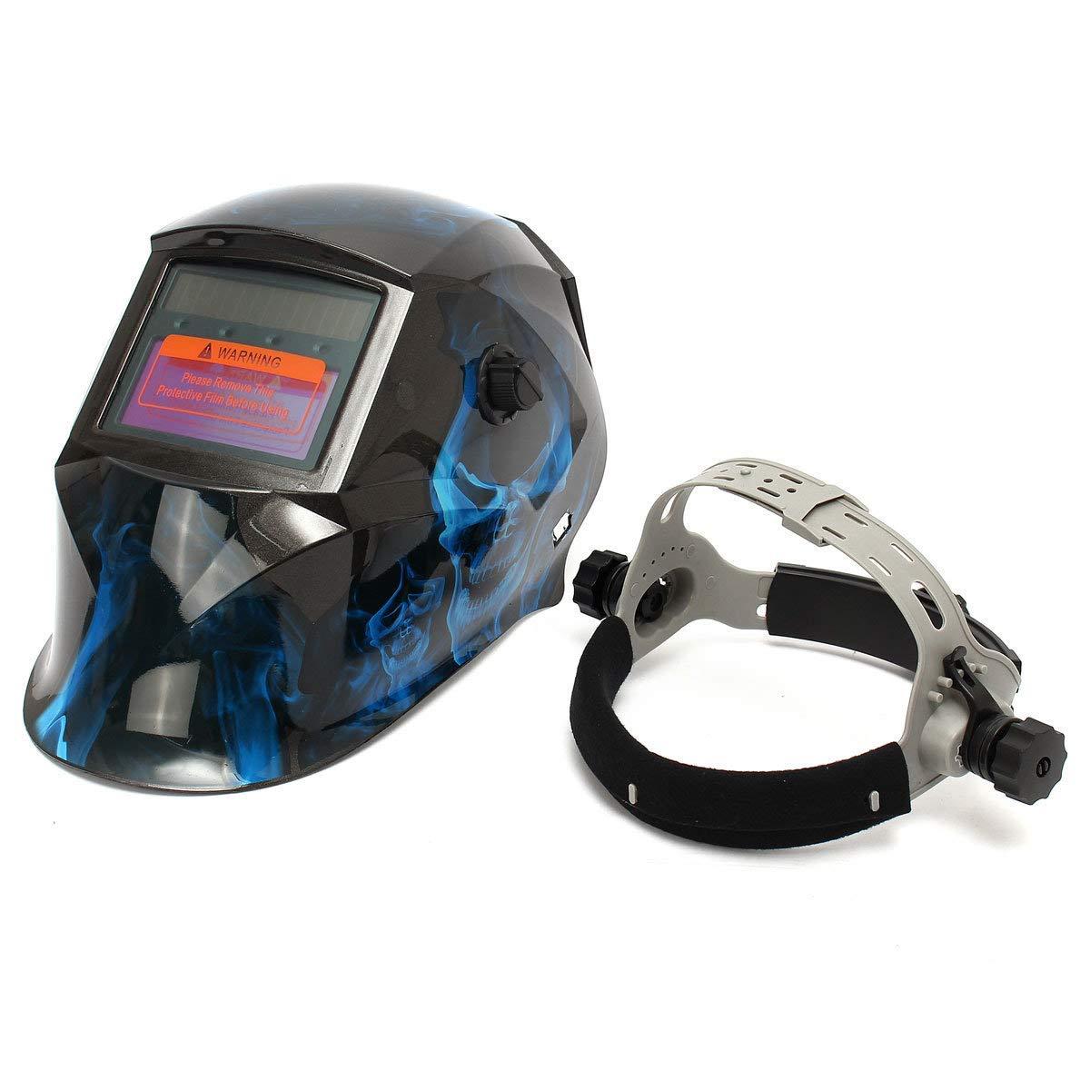 Generic Blue Skull Solar Auto Darkening Grinding Helmet ARC TIG MIG Welding Helmet Mask