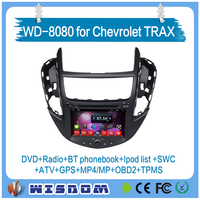 Factory Wisdom high quality car GPS navigation car dvd player for Chevrolet Trax with FM radio bluetooth av-in function audio
