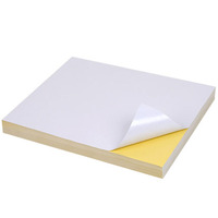 100 Sheets glossy sticker a4 self adhesive sticker label paper for printer