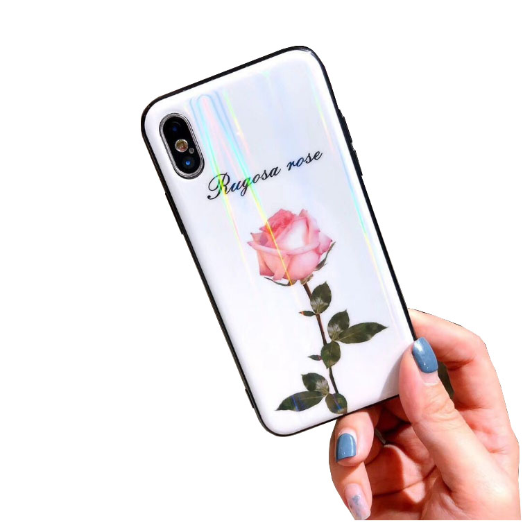 Cell Phone Accessory Custom Printing Glass Phone Case para for iPhone 8 10 xr xs max 6s 7plus