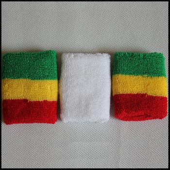... China Custom cotton sport sweat wristband with embroidered logo, ...