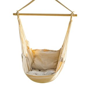 Indoor and outdoor Single Hammock hanging chair with Rope Swing
