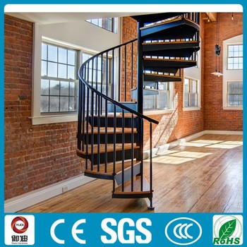 American Style Cast Iron Spiral Stair Wrought Iron Stair Railings