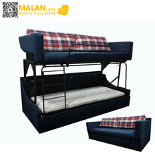 2seater sofa bunk bed of 2 tiers, good price of sofa cum bed