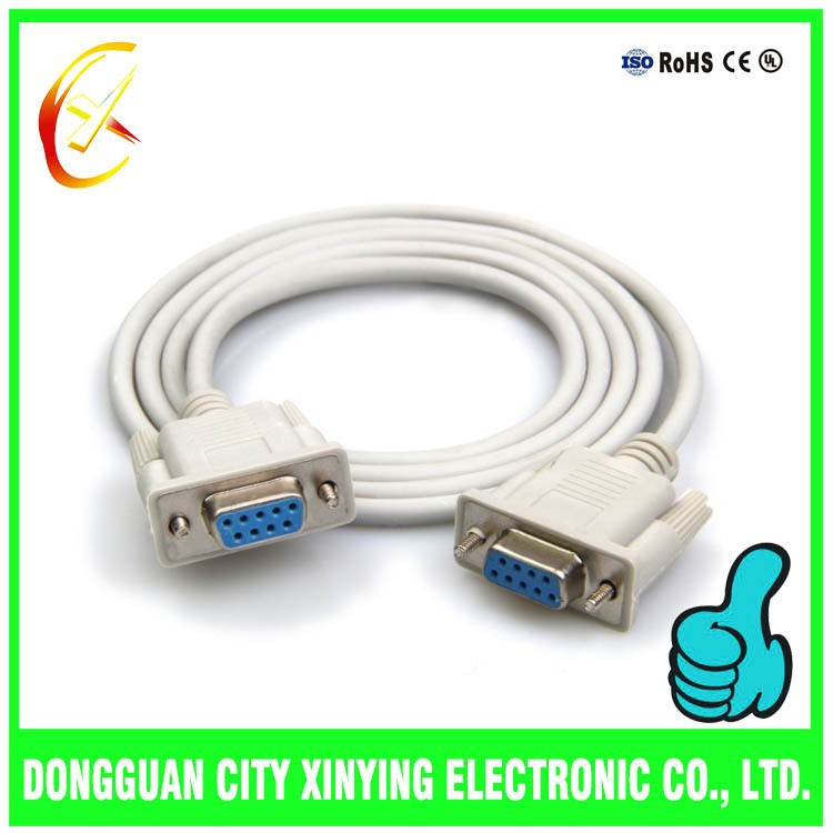 high quality db9 female-female rs232 cable for computer