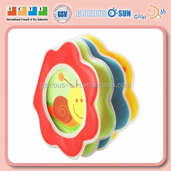 Floating Bathing Fashional Flower Shape Toys Mini Bath Shower Book for Baby Toddler Kids